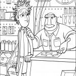 דף צביעה פלינט ואביו בחנות הסרדינים