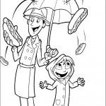 דף צביעה גשם של פלאפל 6