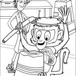 דף צביעה פלינט וקוף המחמד סטיב