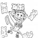 דף צביעה סטיב הקוף משתעשע
