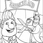 דף צביעה טקס פתיחת חנות הסרדינים