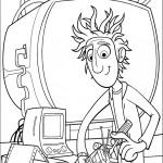 דף צביעה פלינט עם המכונה שהמציא
