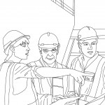 דף צביעה מהנדסי בניין ובנאים