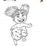 דף צביעה התינוקת סנדי
