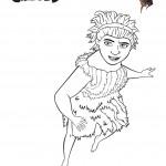 דף צביעה הקרודים - אוגה