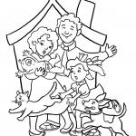 דף צביעה משפחה 4