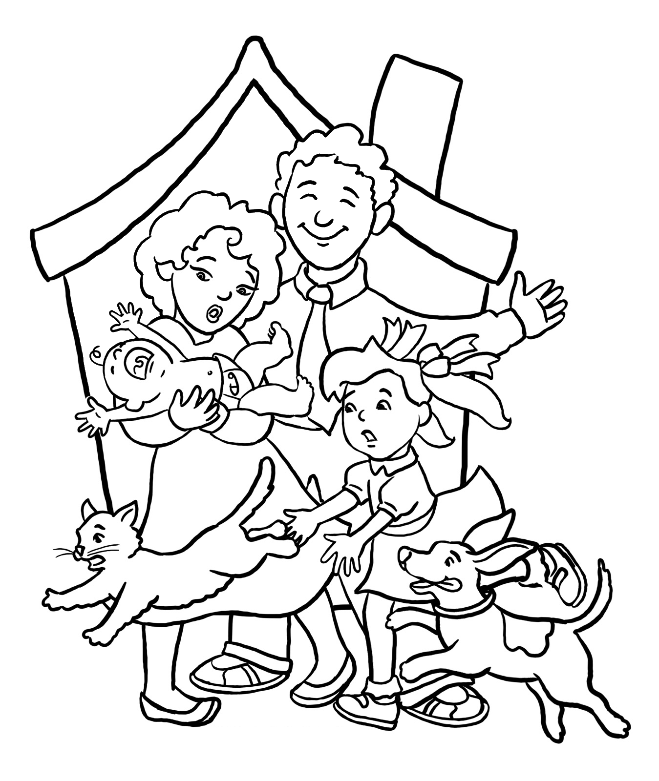 homes multicultural coloring pages - photo#1