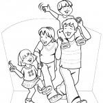 דף צביעה משפחה 3