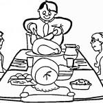 דף צביעה סעודה משפחתית