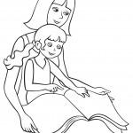 דף צביעה אימא מקריאה סיפור