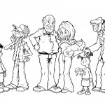 דף צביעה משפחה 2