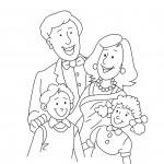 דף צביעה משפחה 1