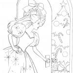 דף צביעה שמלת נסיכה
