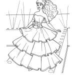 דף צביעה שמלה חגיגית במיוחד