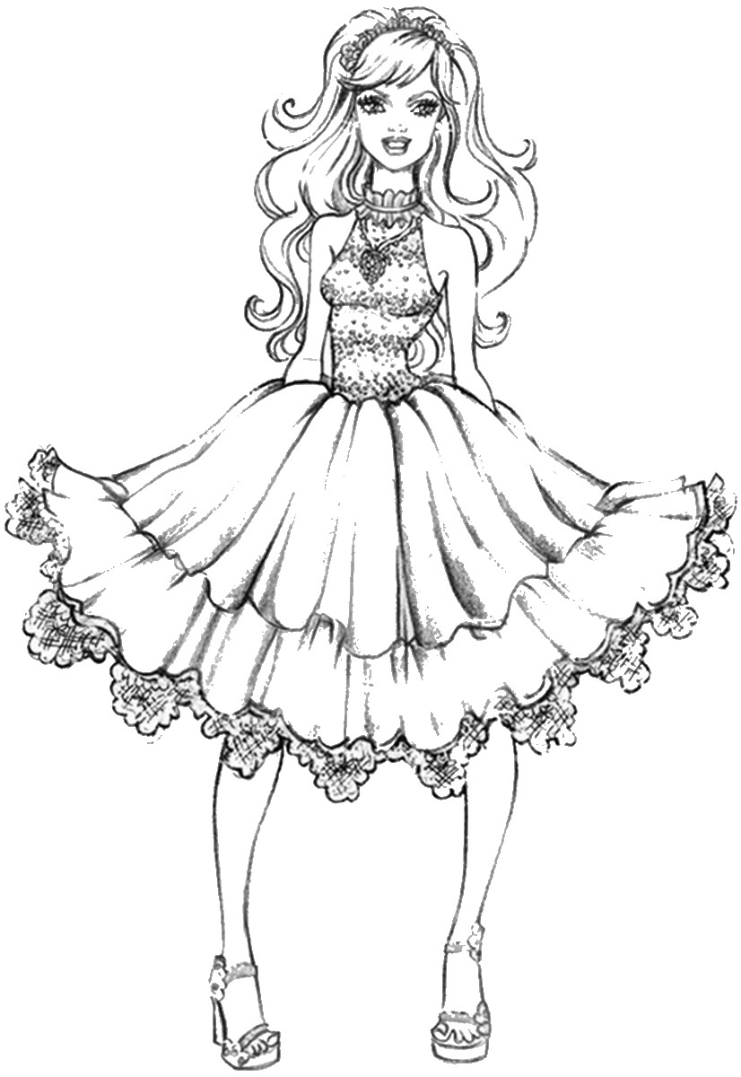 Her fashion girl coloring pages