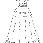 דף צביעה שמלה לאירועים