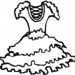 דף צביעה שמלה