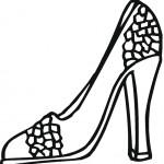 דף צביעה נעל יפה על עקב