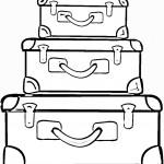 דף צביעה מזוודות נסיעה