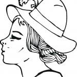 דף צביעה כובע עם נוצה