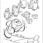 דף צביעה  נמו באקווריום עם דגים נוספים