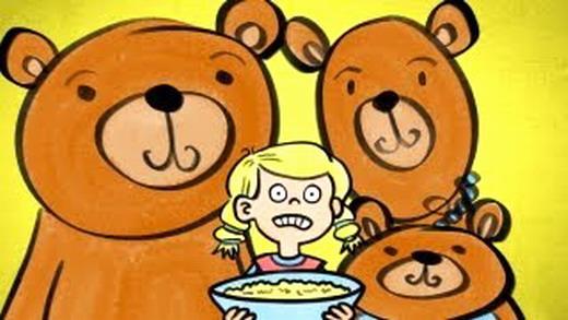 לחץ על דפי הצביעה של זהבה ושלושת הדובים להגדלה ולהדפסה