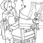 דף צביעה זהבה ושלושת הדובים
