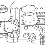 דף צביעה קיטי בחנות לממכר לחמים