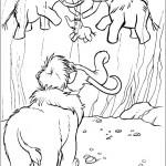 דף צביעה הפיל אלי מוצא ציור קיר על מערה