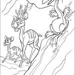 דף צביעה השקנאי והאיילים