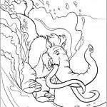דף צביעה הפיל אלי במפל המים