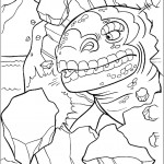 דף צביעה הלטאה הענקית