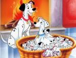 כנסו לסרטון 101 כלבים דלמטיים לחצו על דפי הצביעה של 101 כלבים דלמטים להגדלה ולהדפסה