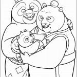 פו התינוק בזרועות הוריו