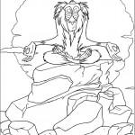 דף צביעה הקוף עושה מדיטציה