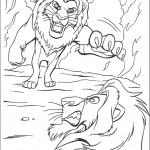 דף צביעה סימבה מתעמת עם סקאר