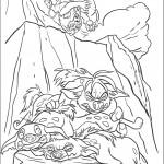 דף צביעה הקרב בין הצבועים ללביאות