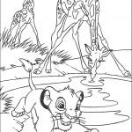 דף צביעה סימבה והג'ירפות