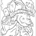 הפיל נושא על גבו מגדל של בעלי חיים