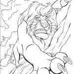 דף צביעה האריה סקאר תוקף