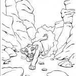 דף צביעה סימבה נס בין ההרים