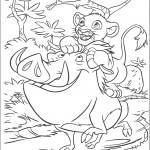 דף צביעה סימבה, פומבה וטימון משתעשעים