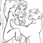 דף צביעה מלך האריות 2