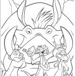 דף צביעה שלושת הצבועים המשרתים את סקאר