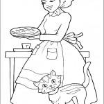 דף צביעה כיפה אדומה מגישה עוגה לסבתה
