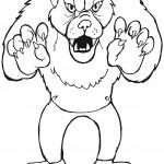 דף צביעה הזאב