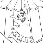 דף צביעה מופע האקרובטיקה של גלוריה