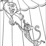 דף צביעה אלכס והחתול במופע אקרובטי
