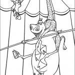 דף צביעה גלוריה ומלמן במופע אקרובטי