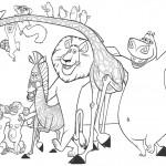 דף צביעה מדגסקר 4